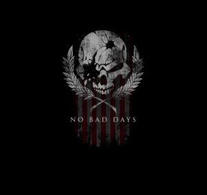 Jason Redman No Bad Days skull and flag merchandise design