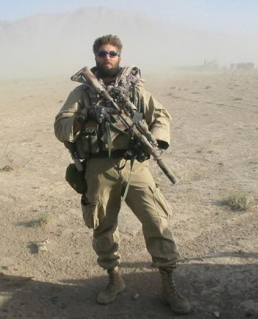 U.S. Navy SEAL Jason Redman in combat gear