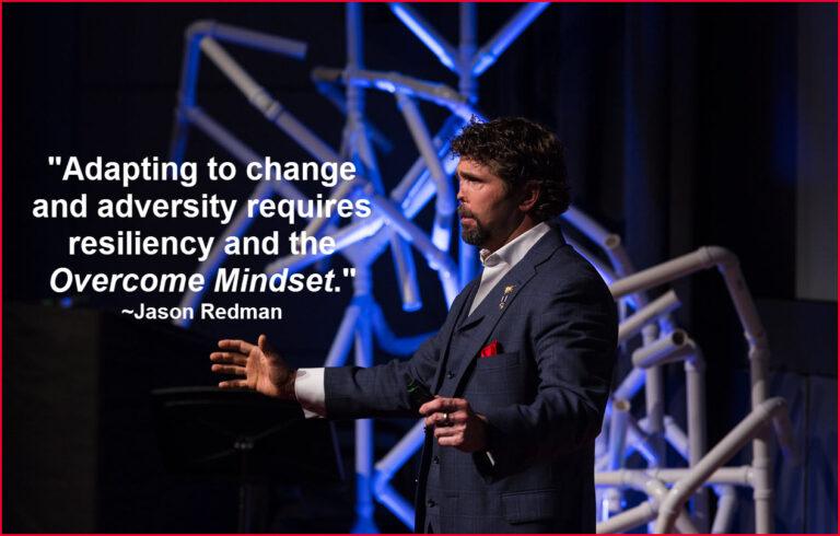 Jason Redman speaking at TedX talk on resiliency and leadership through change