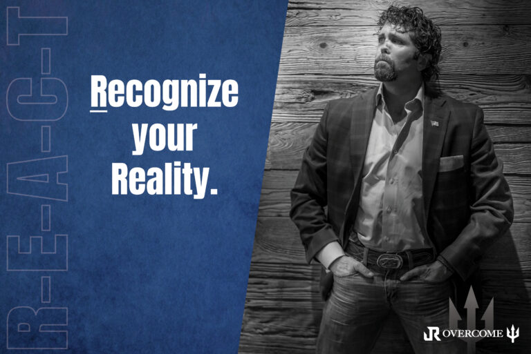 Jason Redman standing in front of wall explains how to recognize your reality as leaders